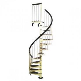 Escalier en colimaçon métal laqué noir, diamètre 120 cm