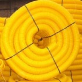Gaine TPC jaune Ø 63 mm en couronne de 50 ML, la couronne