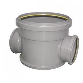 Regard PVC à passage direct diam 315 mm entrée et sortie diam 125 mm