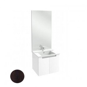 meuble salle de bain struktura 60 cm tiroir blanc. Black Bedroom Furniture Sets. Home Design Ideas