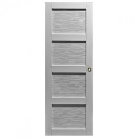 Porte int rieure quartzo 4 carreaux blanc 204x83 cm for Porte seule interieure