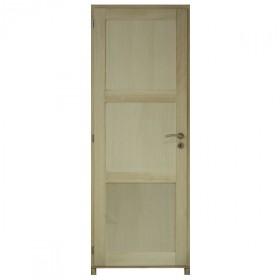 Bloc porte bois exotique clair 3 pnx 204x83 cm, droite traverse droite