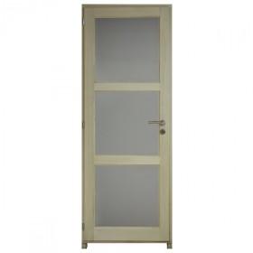 Bloc porte bois exotique clair 3 crx 204x83 cm, droite traverse droite