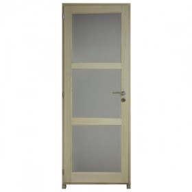 Bloc porte bois exotique clair 3 crx 204x73 cm, droite traverse droite