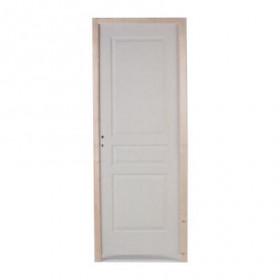 Bloc porte postformé prépeint 3 panneaux, 204x93 cm, poussant droit