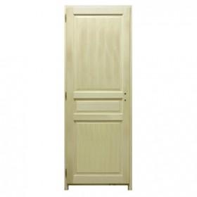 Bloc porte bois exotique 3 panneaux 204x63 cm, droite traverse droite