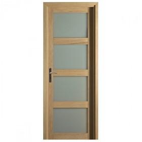 Bloc porte quartzo ch ne 4 crx 204x83 cm droite for Porte interieure 4 carreaux