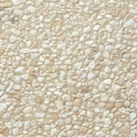 Dalle Stradal gravillon lavé 40 x 40 x 4 cm gros gravillons blancs sur fond jaune ref 135, la palette de 16 M2