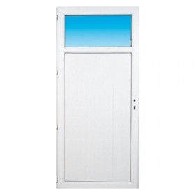 Porte de service pvc OCCULUS poussant droit, 205 x 90 cm