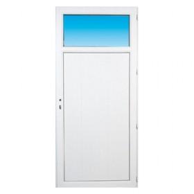 Porte de service pvc 1 2 vitr e gauche 205 x 80 cm for Porte de service