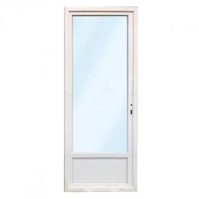 Porte fenêtre 1 vantail en PVC, 205 x 80, tirant droit