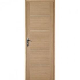 Bloc porte plaqu ch ne 204x73 cm gauche for Porte 5 panneaux