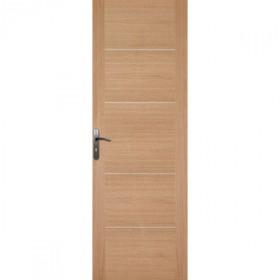 Porte int rieure ch ne 4 inserts 204x83 cm for Porte interieure 4 carreaux