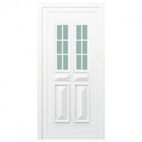 Porte d 39 entr e pvc orne blanche 200x90cm gauche - Porte d entree 200 x 90 ...