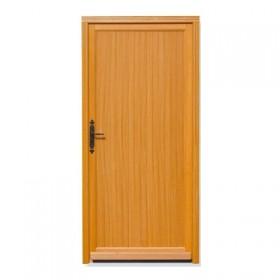 Porte de service bois exotique lise 200x90cm droit for Porte de service vitree bois