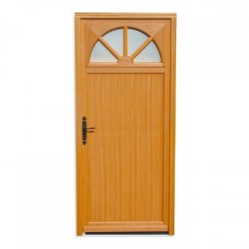 Porte de service pleine en sapin 200x80 cm gauche for Porte de service vitree bois