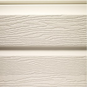 Bardage PVC Crème aspect bois, longueur 5m