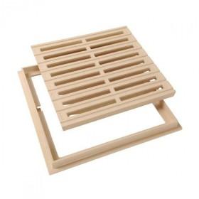 Grille de sol PVC 30 x 30 cm sable Nicoll GRC30S avec cadre