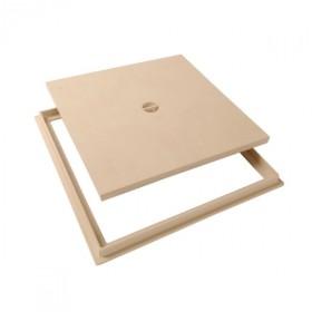 Tampon de sol PVC 40 x 40 cm Nicoll TRC40S sable avec cadre