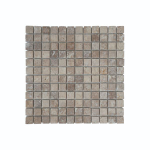 Mosaïque Moka Travertin Naturel 1136, Plaque 30,5 x 30,5 x 1 cm