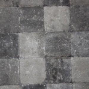 Pavés tambourisés 15 x 15 x 6 cm Cambelstone couleur Gris-anthracite, la palette de 10,125 M2