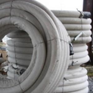 Drain agricole perforé revêtu de géotextile Ø 80 mm, en 50 ml