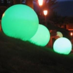 Sphère lumineuse diamètre 55 cm, couleur au choix, l'unité