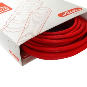 Tube pré-fourreauté multicouche Fluxo 16x2 mm rouge 50 m Nicoll