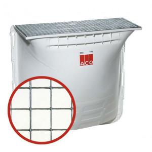 Cour anglaise ACO 100x130x40 cm grille acier caillebotis 30x30 mm
