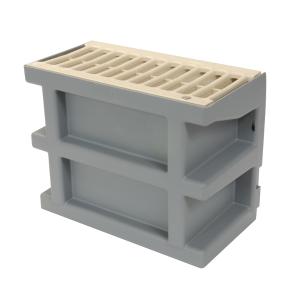 Courette d'aération Nicoll COUR7S couleur sable avec grille
