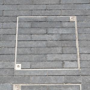 Tampons à paver ALU 40 x 40 cm épaisseur 8 cm, l'unité