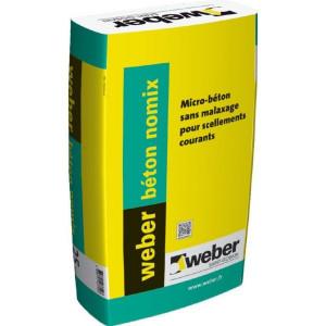 Micro-béton sans malaxage à prise rapide Weber Béton Nomix 25kg