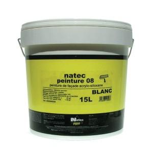 Peinture de façade acrylique et siloxane Natec Peinture 08, 15 litres