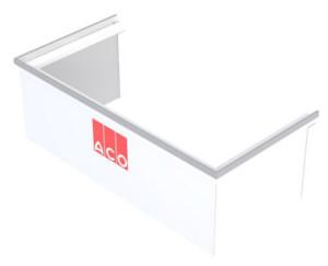 Rehausse Ajustable pour Cour Anglaise ACO 80x40 cm