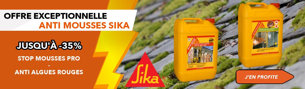Promotion Spéciale Sika Stop Mousses et Sika Anti Algues Rouges